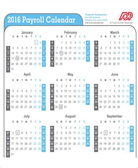 Adp Payroll Calendar 6 Free Sle Weekly Calendars Free Sle Exle