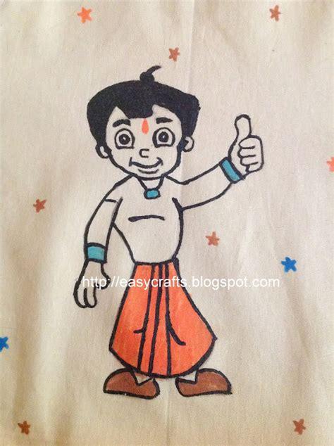 painting chota bheem easy crafts explore your creativity chota bheem apron