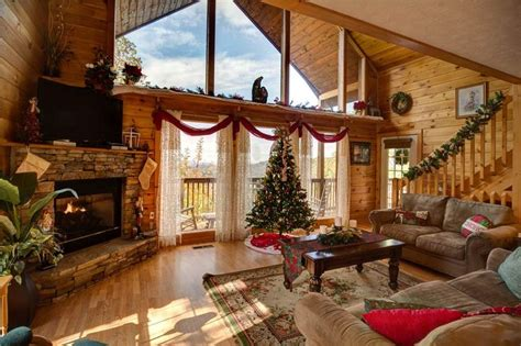 log cabins decorated  christmas images