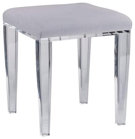 gray bathroom vanity stool acrylic chelsea vanity stool gray contemporary vanity
