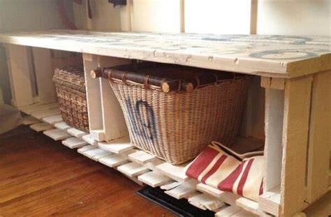 storage bench made from pallets pallet bench with storage plans ideas with pallets