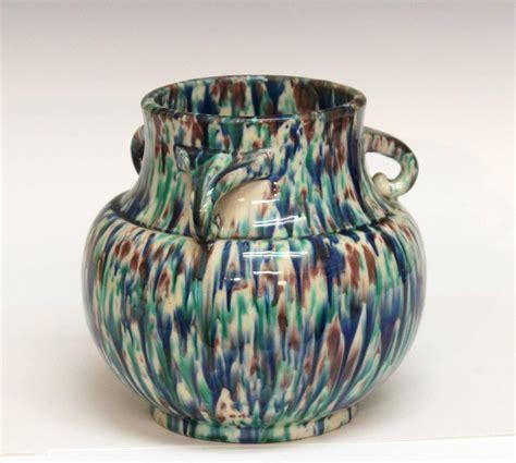 Vintage Deco Vases by Vintage Awaji Pottery Deco Flambe Vase For Sale At 1stdibs