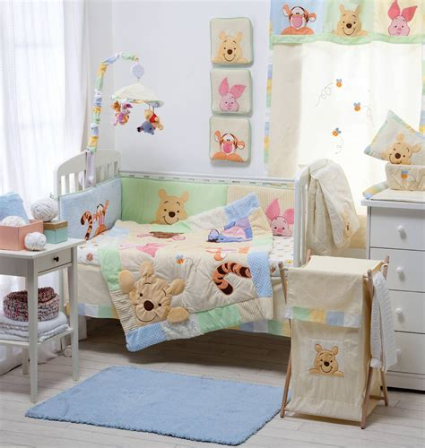Disney Hiding Pooh Crib Bedding Collection 4 Pc Crib Winnie The Pooh Bedroom Furniture Set