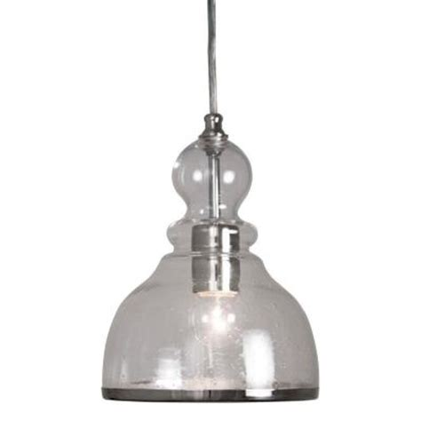 Pendant Lights Home Depot Home Decorators Collection 1 Light Polished Nickel Ceiling Bell Pendant With Clear Glass Shade