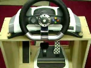 Steering Wheel For Xbox 360 With Pedals Xbox 360 Steering Wheel And Foot Pedal Accessory Stand