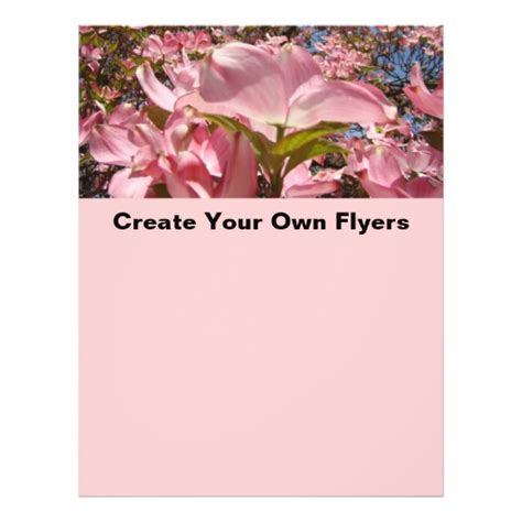 design your flyer online free create your own flyers pink dogwood flowers office zazzle