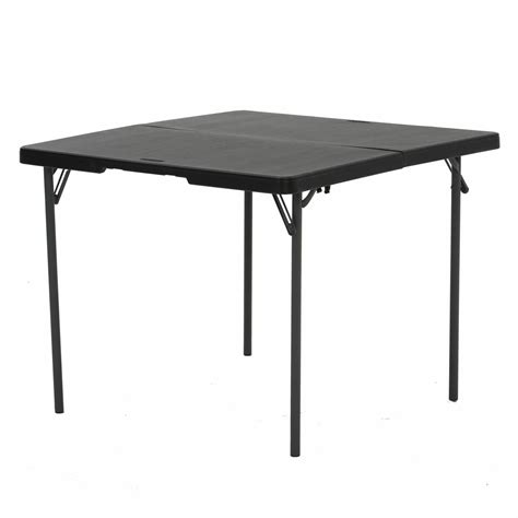 fold in half folding table lifetime 37 quot light commercial fold in half card table