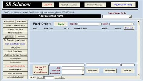 work order database template freeware equipment maintenance template excel