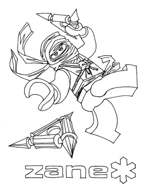 lego ninjago zane titanium coloring pages coloring pages