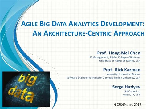agile big data analytics development an architecture