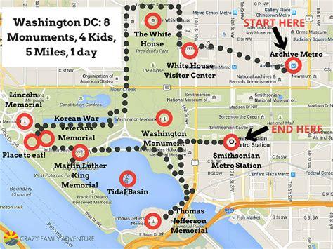 washington dc map landmarks washington dc 8 monuments 4 5 1 day