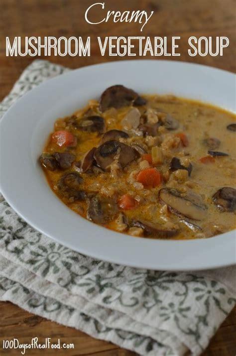 r mushrooms vegetables vegetable soup with barley 187 100 days of