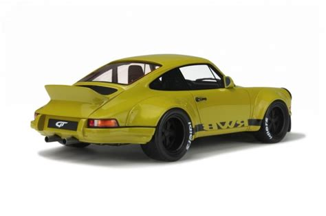 rwb porsche yellow gt spirit 1 18 porsche 911 930 by rwb resin model car in