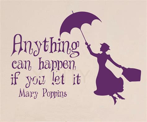 Disney Fairy Wall Stickers aliexpress com buy mary poppins quote anything can