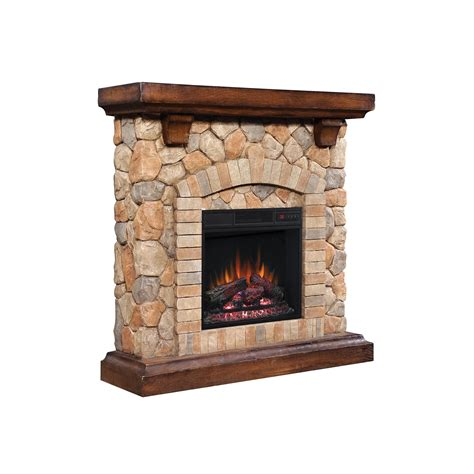 40 Inch Electric Fireplace Insert by 40 Quot Tequesta Wood Brown Electric Fireplace