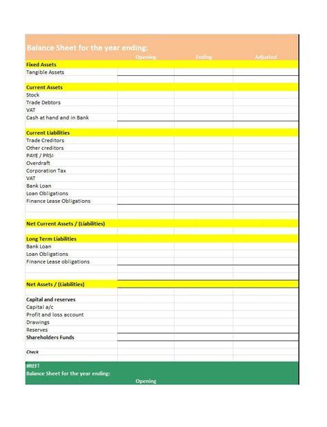 budget balance sheet template budget balance sheet template 28 images personal