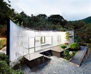 Simple Cabin Floor Plans joho architecture s lattice wrapped namhae house