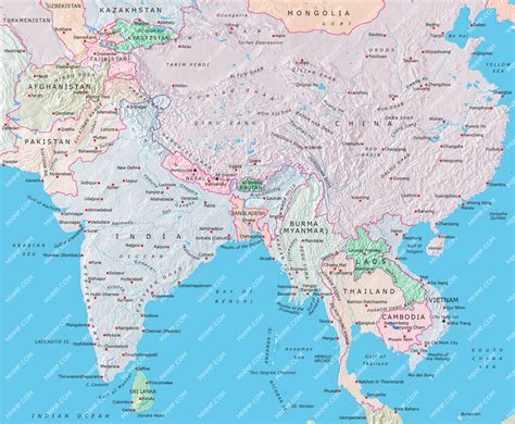 south central asia map south and central asia map pics