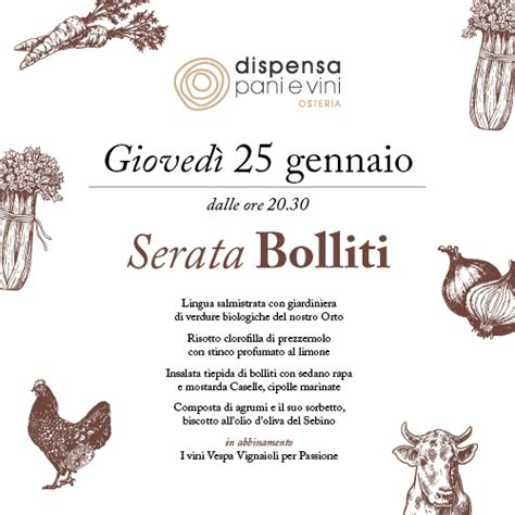 dispensa pani e vini bolliti dinner dispensa pani e vini franciacorta