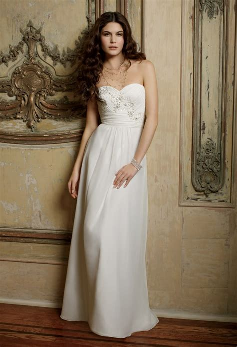 camille la vie wedding dresses strapless chiffon wedding dress from camille la vie and