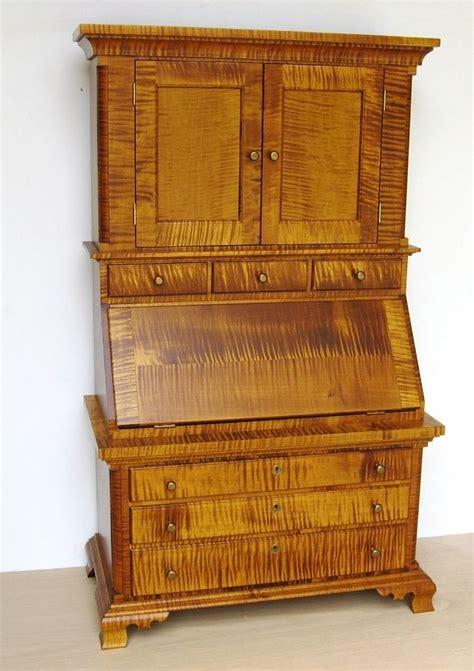 vintage maple secretary desk childs tiger maple secretary desk antique vintage