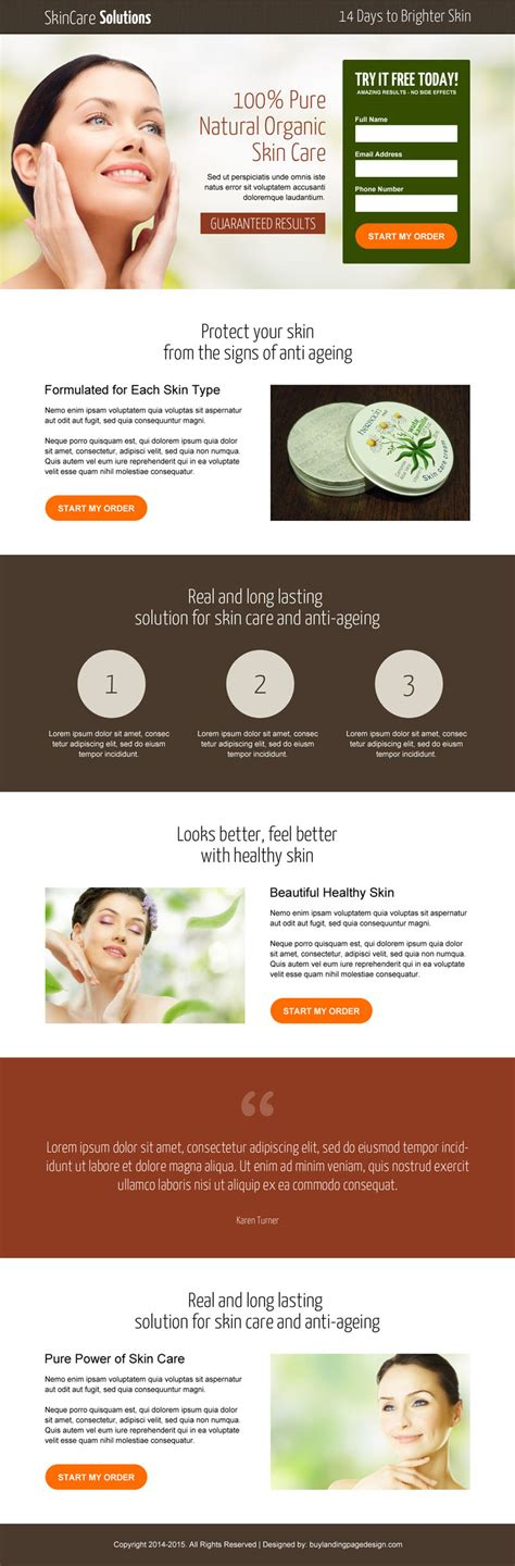product page design template landing page design templates