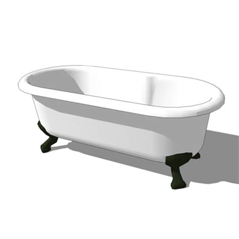 bathtub revit roll top bath 3d model formfonts 3d models textures
