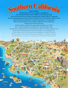 southern california attractions map california map