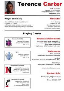 Soccer Resume Exle by Soccer Cv Resume