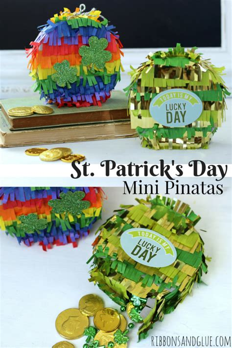 St Kid Echopark st s day mini pinatas