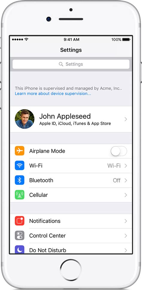 if iphone settings get started with a supervised iphone or ipod touch apple support