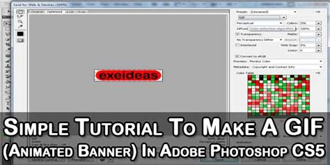 tutorial photoshop animation cs5 simple tutorial to make a gif animated banner in adobe