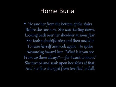 ppt home burial robert powerpoint presentation