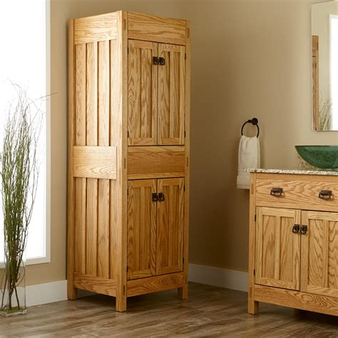 bathroom closets cabinets 72 quot mission linen cabinet bathroom