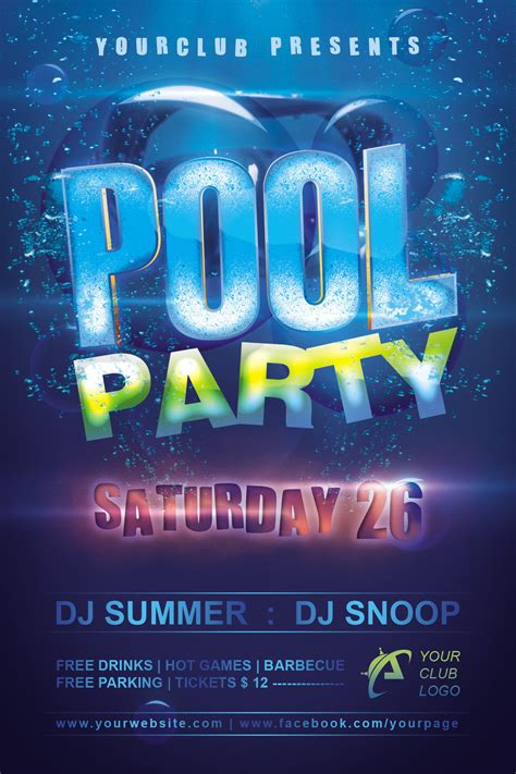 free pool flyer templates pool flyer by dilanr on deviantart