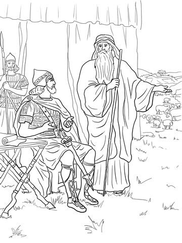 coloring pictures of king saul saul disobeys god coloring page supercoloring com