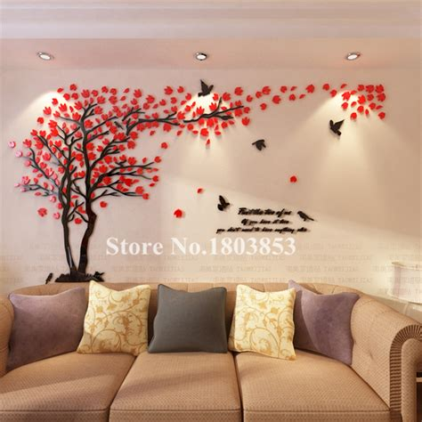 modern wall stickers for living room new arrival acrylic diy 3d wall stickers tree