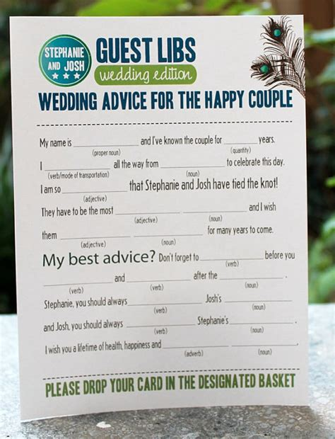 guest libs wedding edition template mad lib guest book emmaline