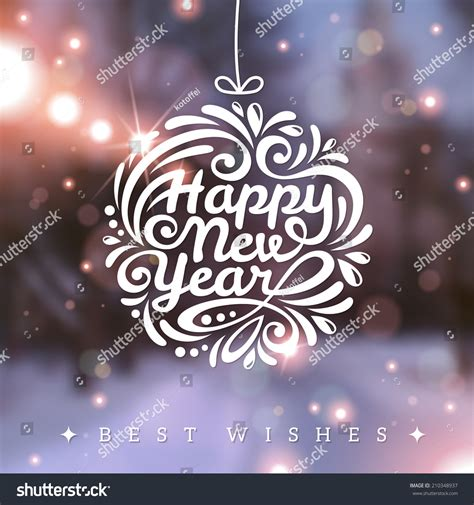 new year wishes vector and new year greeting card vector illustration