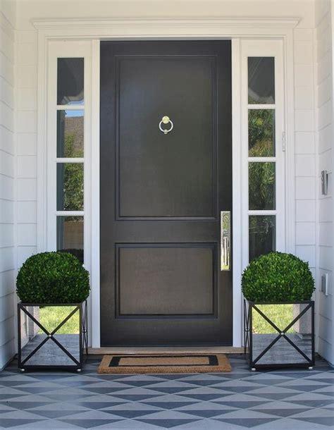 black front door white interior front door design ideas