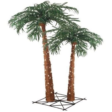 lighted palm tree twin set