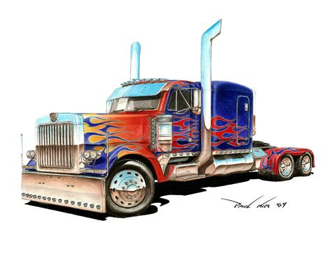 i am optimus prime drawing by paul kim