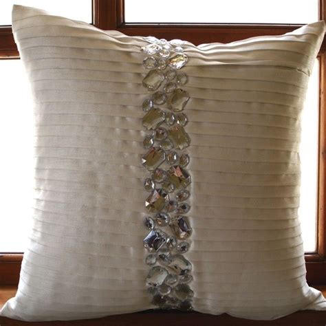 White Accent Pillows For Bed Luxury White Decorative Pillows Cover 16x16 Silk