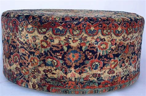 ottoman persian large round persian carpeted ottoman for sale antiques