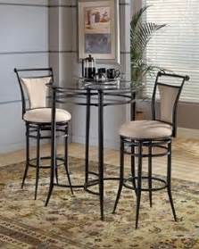 Tall table with two chairs bistro style cierra bar height bistro table