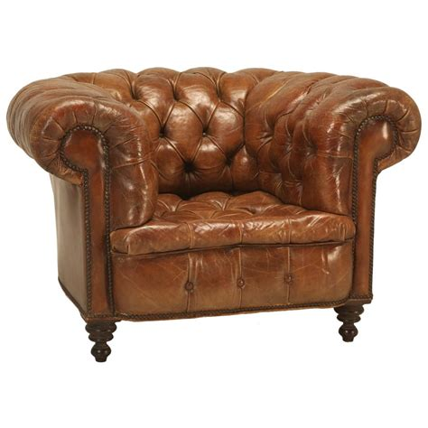 Antique Chesterfield Sofa For Sale Antique Chesterfield Chair In Original Leather For Sale At 1stdibs