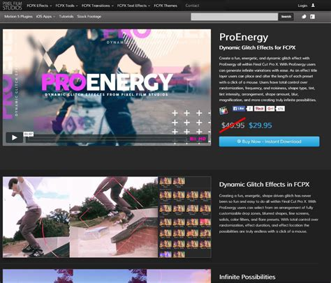 final cut pro glitch effect announcing the release of proenergy from pixel film