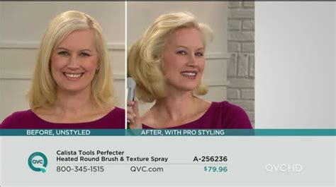Perfector Hair Styler Qvc by Calista Tools Perfecter Heated Brush Texture Spray