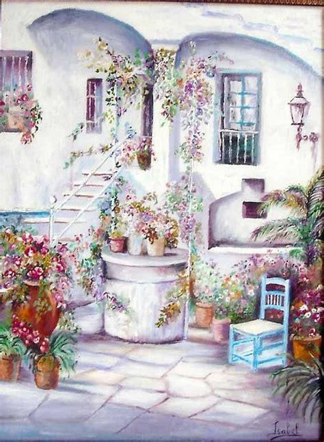 pinturas de patios andaluces pintura al oleo patio andaluz oleos