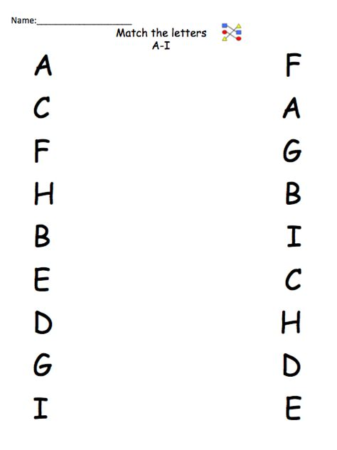 Letter Identification Worksheets by Autism Tank Letter Number Identification